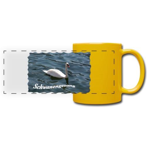 Schwanengesang - Panoramatasse farbig