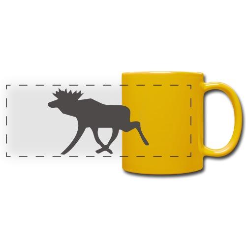 Schwedenelch; schwedisches Elch-Symbol (vektor) - Panoramatasse farbig