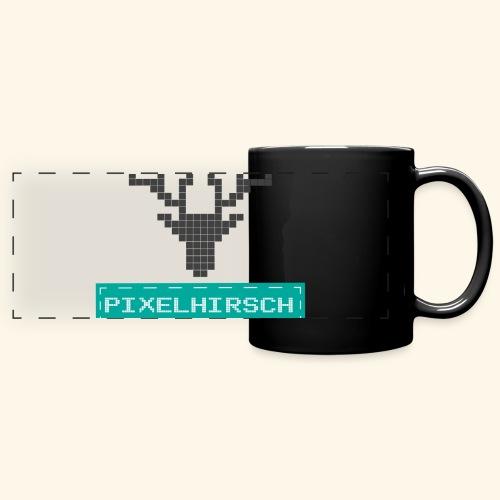 PIXELHIRSCH - Logo - Panoramatasse farbig