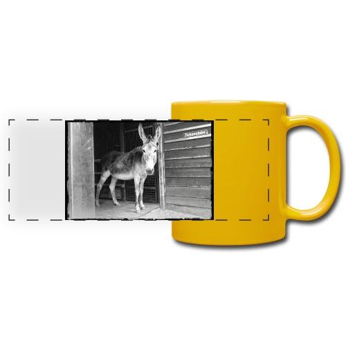 Zickenstube Esel - Panoramatasse farbig