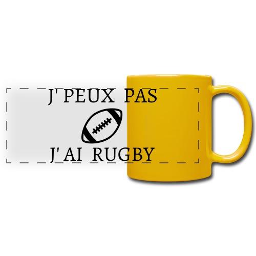 J'peux pas J'ai rugby - Mug panoramique uni