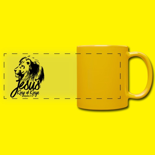 JESUS - KING OF KINGS - Revelations 19:16 - LION - Full Colour Panoramic Mug