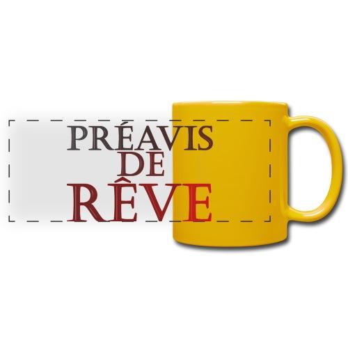 préavis de rêve (rouge) - Mug panoramique uni