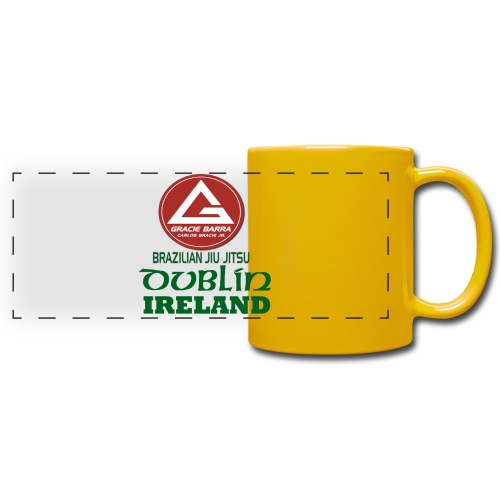Gracie Barra Dublin Gaelic Celtic Font PNG - Full Color Panoramic Mug