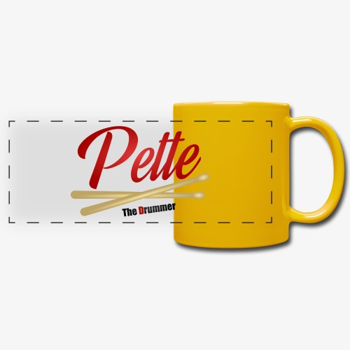 Pette the Drummer - Full Color Panoramic Mug