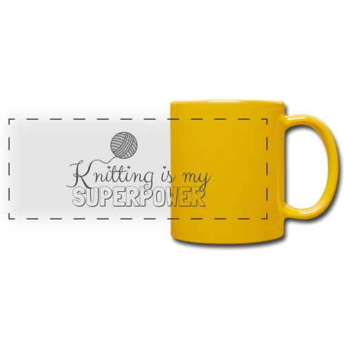 Knitting Is My Superpower - Full Colour Panoramic Mug