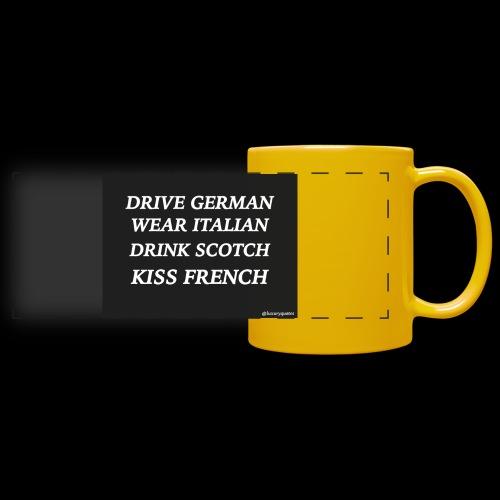 driveweardrinkkiss luxuryquotes - Mug panoramique uni