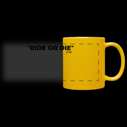 Ride or die (noir) - Mug panoramique uni