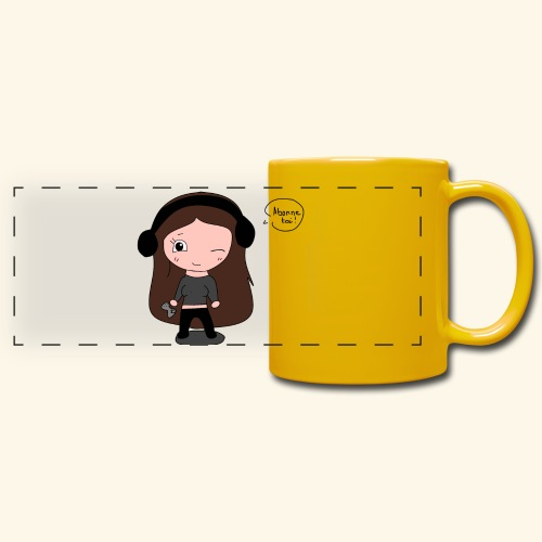 tee-shirt dessin Fan art - Mug panoramique uni