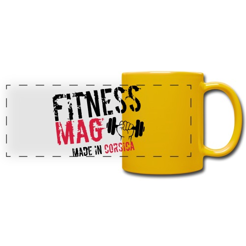 Fitness Mag made in corsica 100% Polyester - Mug panoramique uni