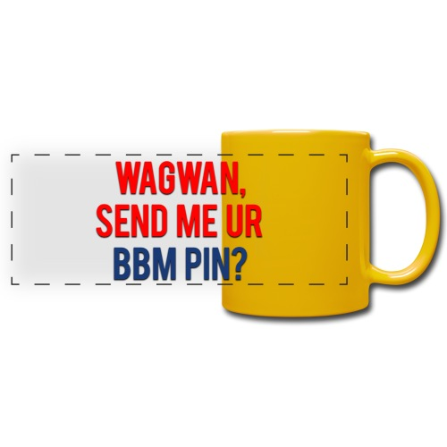 Wagwan Send BBM Clean - Full Color Panoramic Mug