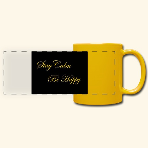 Be Happy - Mug panoramique uni