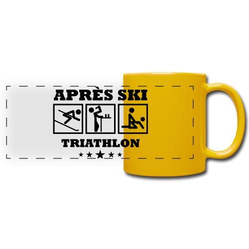 Apres Ski Triathlon | Apreski-Shirts gestalten - Panoramatasse farbig