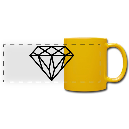 Diamond Graphic // Diamant Grafik - Panoramatasse farbig
