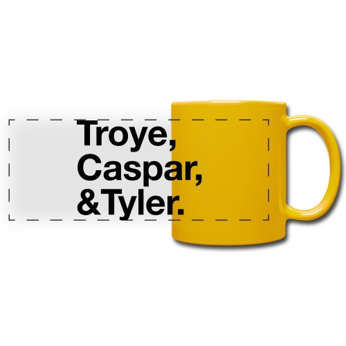 TROYE CASPAR AND TYLER - YOUTUBERS - Tazza colorata con vista