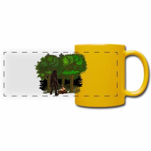 Bigfoot Campfire Forest - Full Colour Panoramic Mug