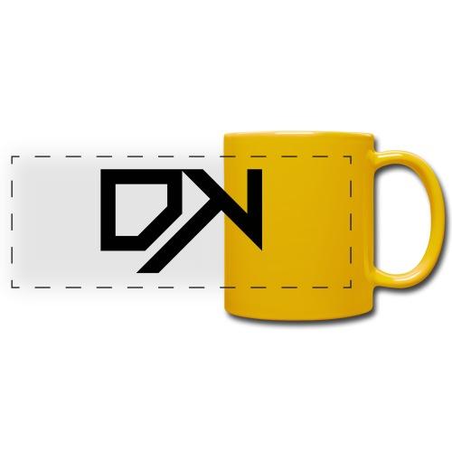 DewKee Logo Cap Black - Full Color Panoramic Mug