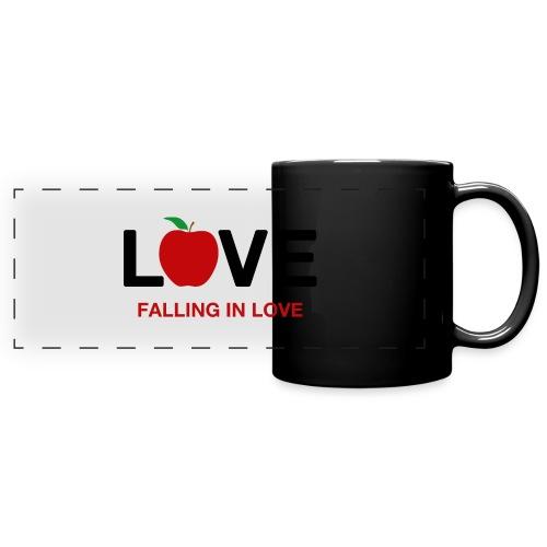 Falling in Love - Black - Full Colour Panoramic Mug