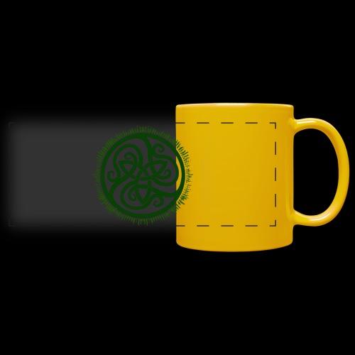Green Celtic Triknot - Full Color Panoramic Mug