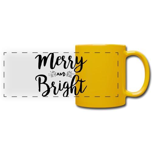 Merry and Bright - Panoramatasse farbig