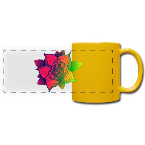 rose tricolore - Mug panoramique uni