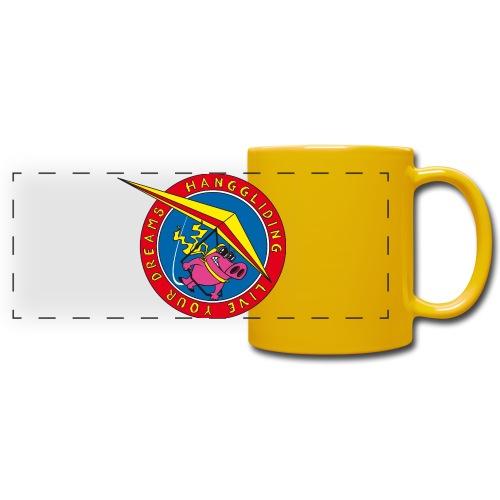 hanggliding pig - Full Colour Panoramic Mug