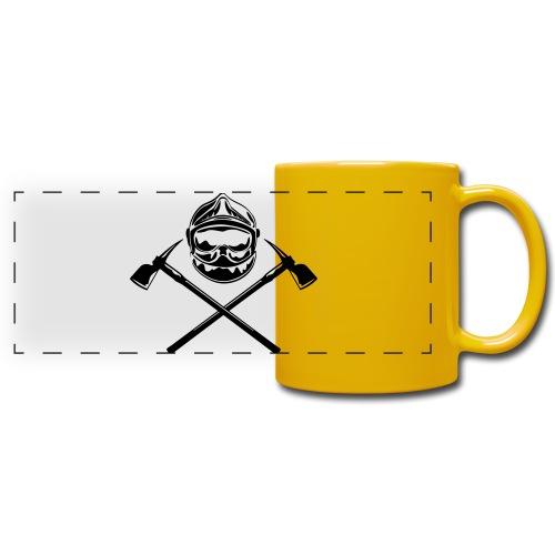 casque_pompier_deux haches - Mug panoramique uni