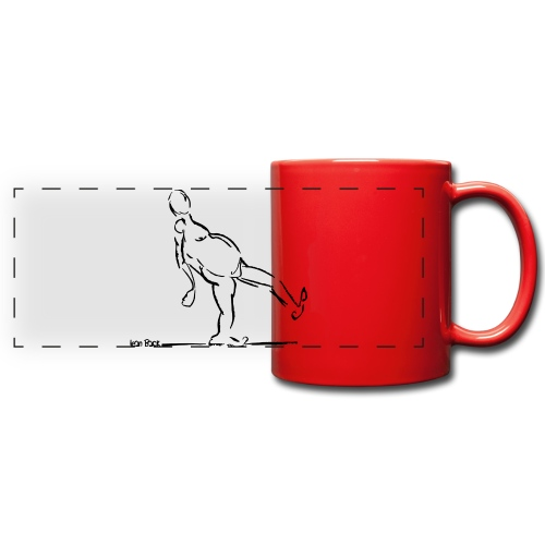 Lean Back Doodle - Full Color Panoramic Mug