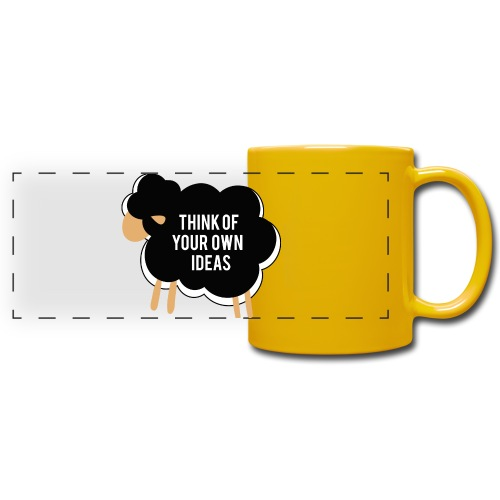 Think of your own idea! - Full Colour Panoramic Mug