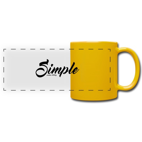 Simple: Clothing Design - Full Color Panoramic Mug