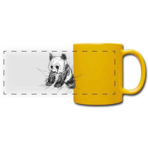 Scribblepanda - Full Color Panoramic Mug