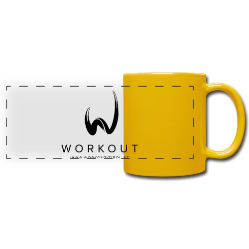 Workout mit Url - Panoramatasse farbig