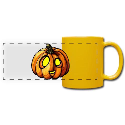 Pumpkin Halloween watercolor scribblesirii - Full Colour Panoramic Mug
