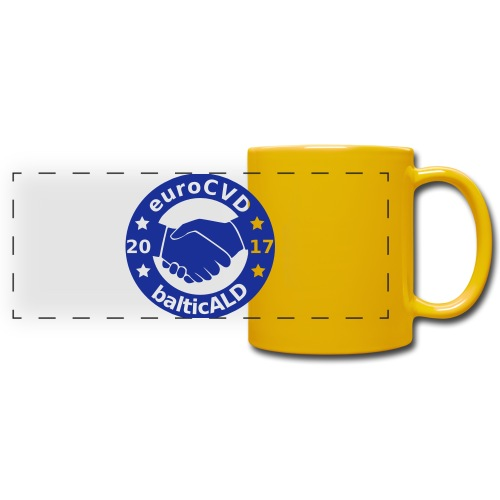 Joint EuroCVD - BalticALD conference mens t-shirt - Full Colour Panoramic Mug