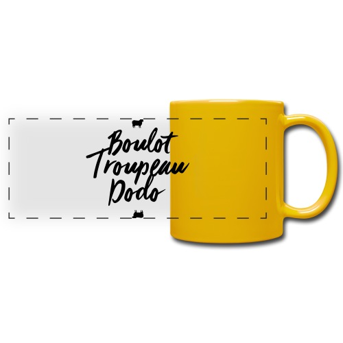 Boulot Troupeau Dodo - Mug panoramique uni
