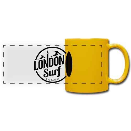 London Surf - Black - Full Color Panoramic Mug