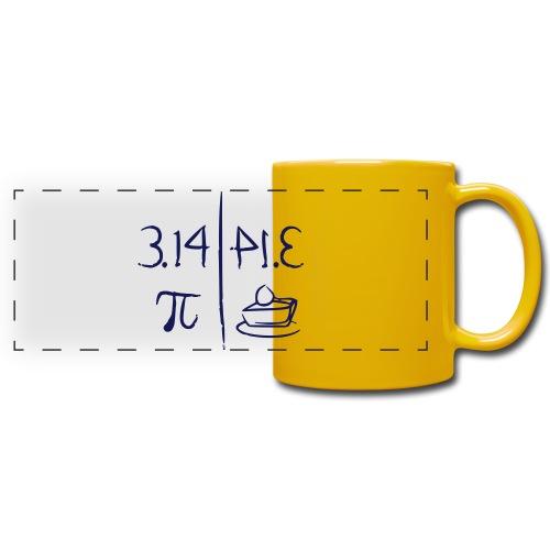 pi vs pie - Full Color Panoramic Mug