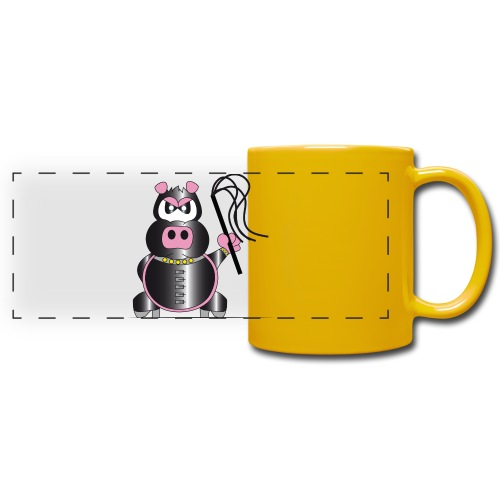 Schweinchen Sado - Panoramatasse farbig