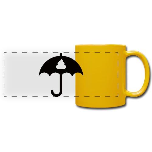 Shit icon Black png - Full Colour Panoramic Mug