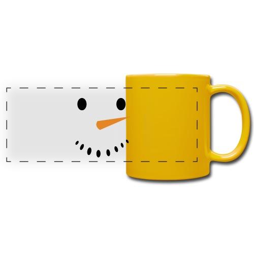 Bonhomme de neige Noël Hiver - Mug panoramique uni