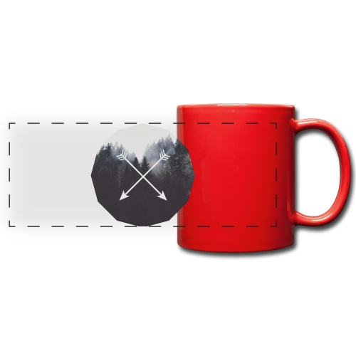 Misty Forest Blended With Crossed Arrows - Tazza colorata con vista