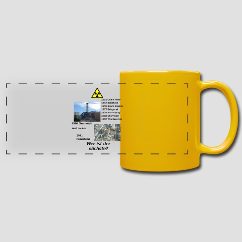 no nuclear button (German) Wer ist der Nächste? - Full Colour Panoramic Mug