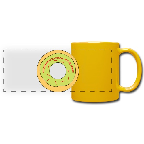 Donut Come For Me Red - Full Color Panoramic Mug