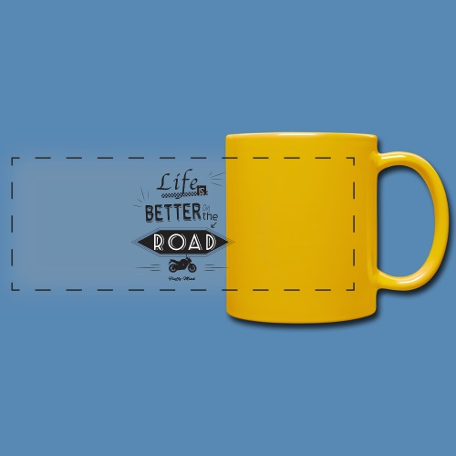 Moto - Life is better on the road - Mug panoramique uni