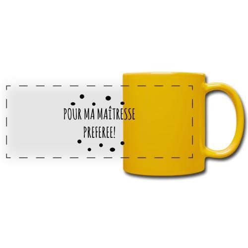 cadeau maîtresse - Mug panoramique uni