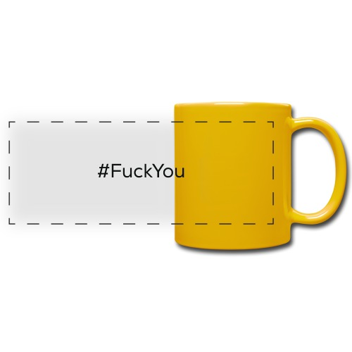 #FuckYou Black - Tazza colorata con vista