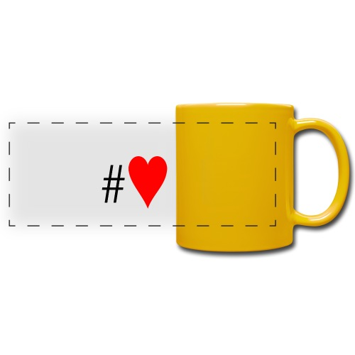 Hashtag Heart - Full Colour Panoramic Mug