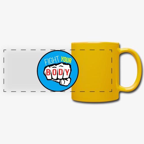 logo fyb bleu ciel - Mug panoramique uni
