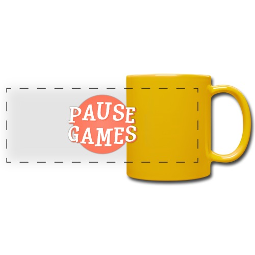 Pause Games Logo - Full Color Panoramic Mug