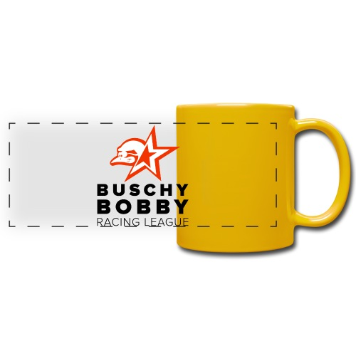 Buschy Bobby Racing League on white - Full Color Panoramic Mug